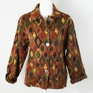 ❄ Jane Ashley : Vtg Tapestry Southwestern Jacket